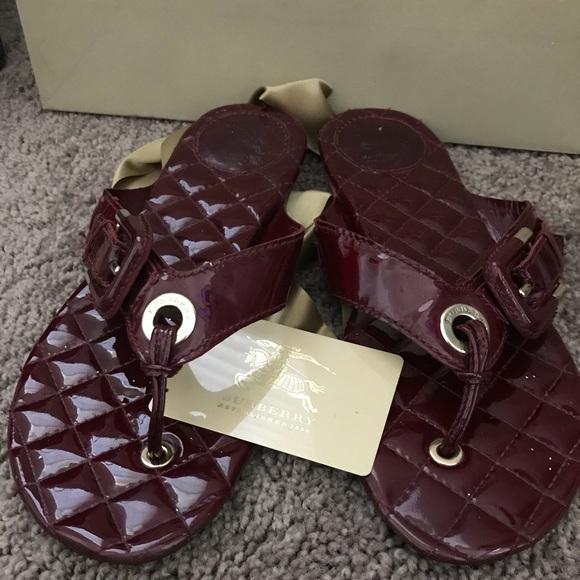 d5d9c32f5bd4 Burberry Shoes - BURBERRY 💯Authentic Thong Sandals Color Wine